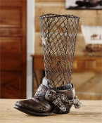 Cowboy Boot Design Wine Cork Holder