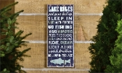 Lake Rules Design Wall Sign