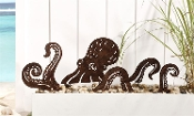 Iron Octopus Design Garden Stake
