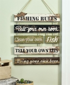 Fishing Rules, Multi-Plaque Wall Sign