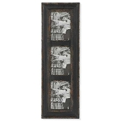 Weathered Wood Vertical Picture Frame, Black