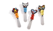 Romero Britto Designed Spreaders, Gift Boxed Set of 4
