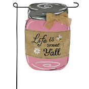 Life Is Sweet Y'all, Burlap Garden Flag