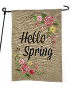 Hello Spring, Outdoor Garden Flag