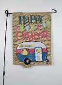 Happy Camper, Outdoor Garden Flag