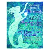 Lighted Mermaid Canvas Message