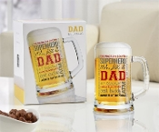 Dads Glass Beer Mug