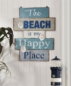 The Beach Is My Happy Place, Novelty Wall Sign