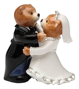 Teddy Bear Bride and Groom Salt and Pepper Shakers