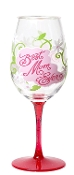 Lolita Ultimate Acrylic Glitter Wine Glass, Best Mom Ever