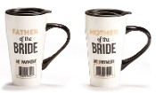 Father or Mother Of The Bride, Ceramic Travel Mug, Sold Seperate