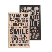 Dream Big, Inspirational Wall Sign in White OR Black