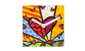 Romero Britto Colorful Pop Art Desk Clock