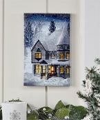 LED Winter Home Scene Wall Art