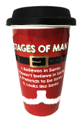 Christmas Stages of Man Travel Mug