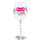 Wine Girl Wine Glass