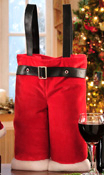 Santa Pants Two Bottle Wine Tote