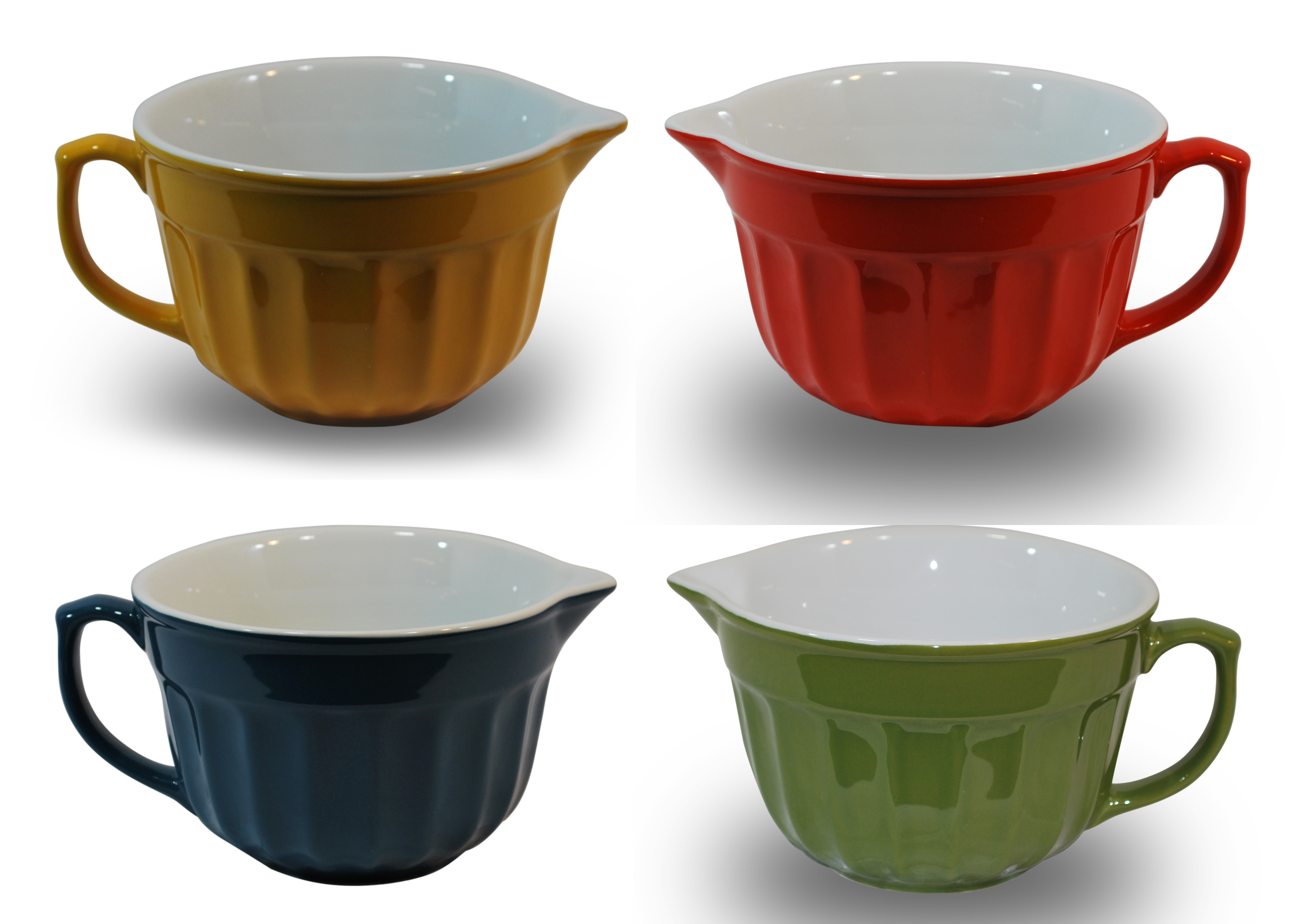 G for Gifts Colorful Batter and Mixing Bowls