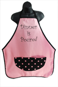 Wild Hare Designs Apron - Dinner is Poured