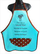 Wild Hare Designs Apron- I'm on a Liquid Diet… Turquoise