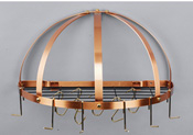 Old Dutch Half Dome Satin Copper Pot Rack