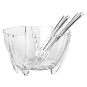 Acrylic Salad Bowl with Servers