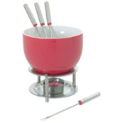 Orka Ceramic Chocolate Fondue Set - Red