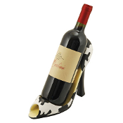 Cow Print High Heel Wine Bottle Caddy