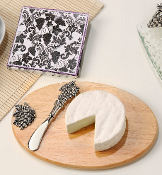 Giftcraft Cheese Board with Spreader with Grape Motif