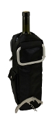 Picnic Gift Black Insulated Single Wine Bottle Duffel