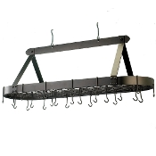 "48"" x 18"" Oval Potrack with Grid w/16 Hooks"