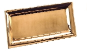 "18"" x 9"" Heavy Gauge Décor Copper Rectangular Tray"