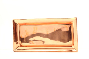 "21½"" x 12"" Heavy Gauge Décor Copper Rectangular Tray"