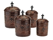 Set of 4 Versailles Canisters
