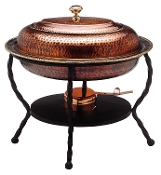 Antique Copper Chafing Dish, 6 Qt