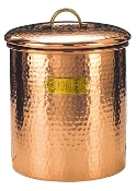 Copper Hammered Cookie Jar
