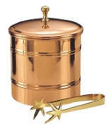Ice Bucket with Brass Tongs