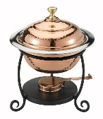 Copper Over Stainless Steel Chafing Dish