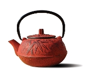 Iron Osaka Teapot, 20-Ounce, Red