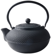 Cast Iron Saga Teapot, Black