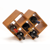 Bamboo 8 Bottle Wine Rack