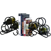 Scroll Bookends, 6 Bottle Wine Rack