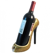 Wild Eye High Heel Bottle Holder, Gold