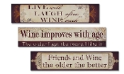 Giftcraft Set of 3 Wine Lovers Wooden Wall Signs