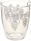 Prodyne Acrylic Wine Bucket with Grape Design