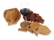 Bamboo Wine Glass Coasters (4)