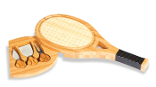 Tennis Racquet shape Cheese Board