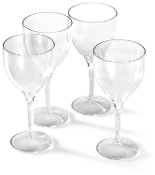 Forever Polycarbonate 14oz Goblet - Set of Four