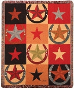 Star Pattern Tapestry Throw