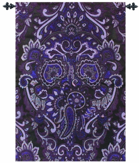 Ariana Eggplant Tapestry Throw
